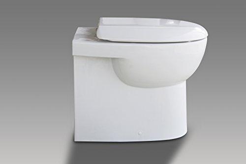 Stand WC/weiß / WC Sitz/Deckel / Soft Close/Quick Release/Tiefspüler / Spülrand geschlossen/Best Clean Nanobeschichtung incl. Spezialbefestigung