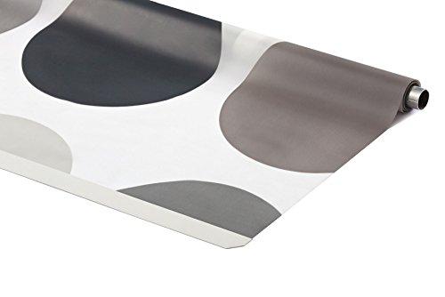 ERSATZROLLE HALB-KASSETTEN DUSCHROLLO ALLE DESIGNS 7 BREITEN EINFACHER WECHSEL (140x240 cm, Retro)