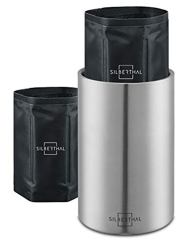 SILBERTHAL Weinkühler Edelstahl Doppelwandig - Kühlung mit Kühlmanschetten