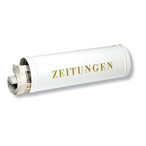 BURG-WÄCHTER Zeitungsrolle mit Kunststoffabdeckung, Briefkastenergänzung, Verzinkter Stahl, 800 W, Weiß
