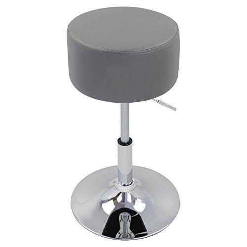 WOLTU Design Hocker mit Griff, stufenlose Höhenverstellung, verchromter Stahl, Antirutschgummi, Pflegeleichter Kunstleder, Gut Gepolsterte Sitzfläche #873