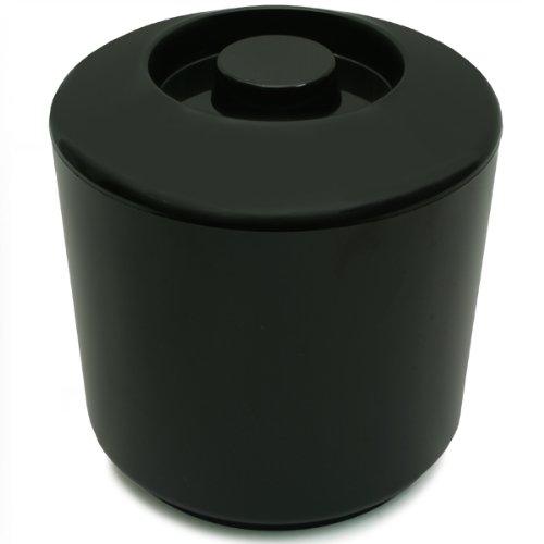 Eiswürfelbehälter 4 Liter Kühler Runde Eiskübel Eiseimer - Schwarz