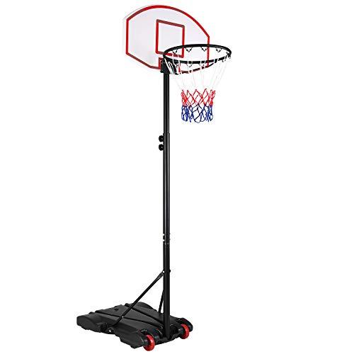Sportana Basketballkorb 179-209cm Ringhöhe verstellbar 30kg Standfuß Korbanlage Basketballständer Basketball Korb Outdoor