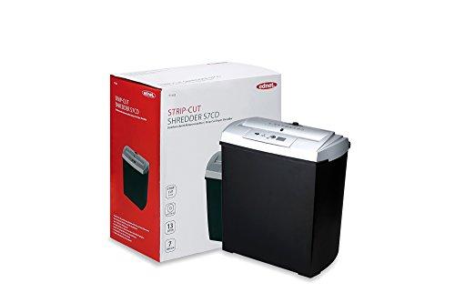 ednet S7 Aktenvernichter mit CD / DVD / Kreditkartenfach, Schnittgröße: 7mm , Auffangbehälter: 13 L, Streifenschnitt