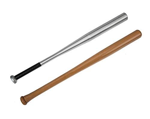 Edelstahlmarkenshop Baseballschläger aus Alu & Holz und in 6 Längen auswählbar von 54-84cm (Holz, 54cm)