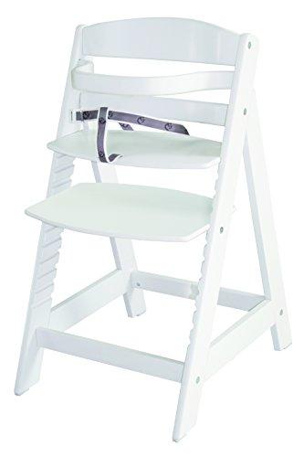 roba 7562W Treppenhochstuhl Sit Up III, mitwachsender Hochstuhl vom Babyhochstuhl bis zum Jugendstuhl, Holz, weiß