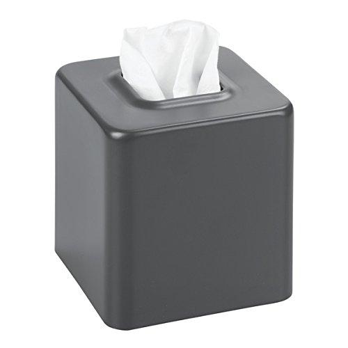mDesign Kosmetiktücherbox quadratisch - Papiertücherbox für Hygienepapier im Bad - Box für Kosmetiktücher im modernen Look - mattes Grau