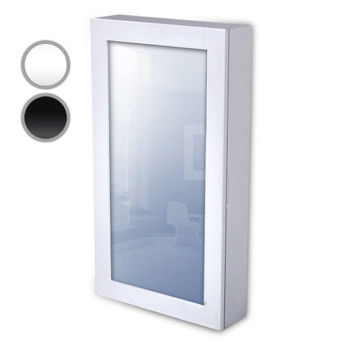 Miadomodo Schmuckschrank Spiegelschrank Wandspiegel Schmuckkasten 56x31x10 cm zum Hängen, Magnetverschluss - in schwarz oder weiss