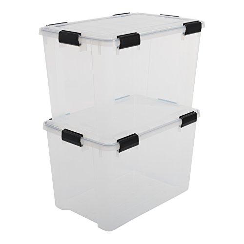 IRIS, 2er-Set luftdichte Boxen 'Air Tight', AT-LD, Plastik, durchsichtig, 70 L, 59 x 39 x 38 cm