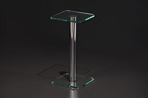madera Beistelltisch quadratisch Glas eckig Stelltisch Nachttisch