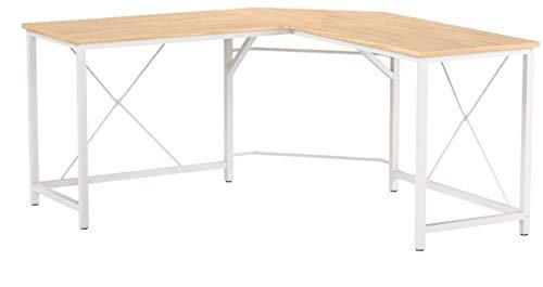 sogesfurniture Computertisch Eckschreibtisch in L-Form, großer Gaming Schreibtisch PC Tisch Winkelkombination Arbeitstisch Bürotisch, (150+150)*55 * 76 cm, Ahorn LD-Z01MO-BH