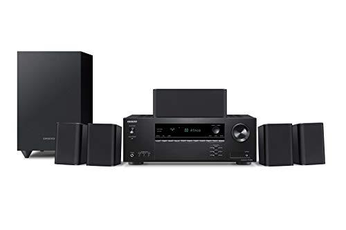 Onkyo HT-S3910(B) 5.1 Heimkinosystem mit AV Receiver und Lautsprecher (155 W/Kanal, 4K UltraHD Durchleitung, Dolby Atmos, DTS:X-Playback, Bluetooth, Hi-Res Audio, Advanced Music Optimizer), Schwarz