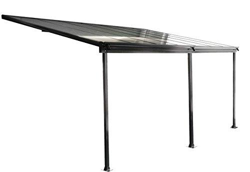 osoltus Aluminium Terrassenüberdachung Terrassendach Veranda grau 435 x 300 cm