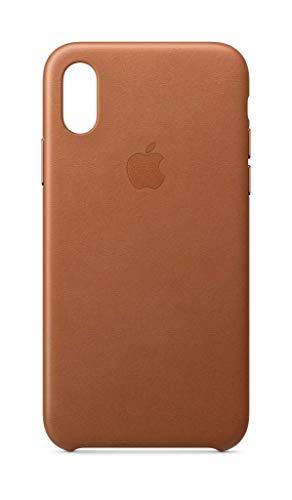 Apple Leder Case (iPhoneXS) - Sattelbraun