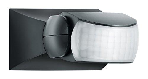 Steinel Bewegungsmelder IS 1 schwarz, innen und außen, 120° Bewegungsmelder, 10 m Reichweite, Auf- und Unterputz, IP54