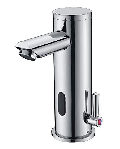 Fyeer Infrarot Sensor Wasserhahn Bad Automatik Waschtischarmatur Badarmatur Armatur Waschbecken Mischbatterie Einhebelmischer für Badezimmer,FN0135A ...