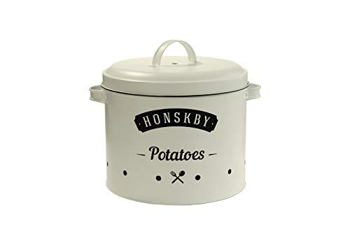 Honskby Kartoffel Vorratsdosen - Elegante Vintage Qualität Design Dose zum Aufbewahren von Kartoffeln - aufbewahrung küche