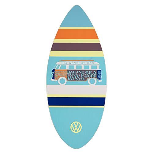 Volkswagen Skimboard, 104cm 7-Schicht-Skimmer aus Holz, VW Bulli T1 Unisex-Skimboard für Erwachsene und Kinder, 3 Farben