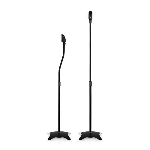 1 Paar Boxenständer / Satellitenständer je 4.5kg belastbar, Lautsprecher Standfuß / Boxen Stativ Säule schwarz