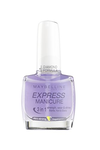 Maybelline New York Make-Up Nailpolish Express Manicure Nagellack Ultra Strong 3 in 1 / Nagelhärter für gestärkte, glanzvolle und feste Nägel, 1 x 10 ml