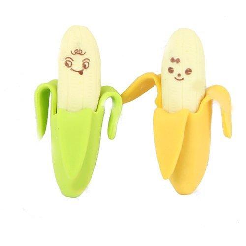 2Neuheit Banana Stil Bleistift Radiergummi Stationery Kid Geschenk Spielzeug