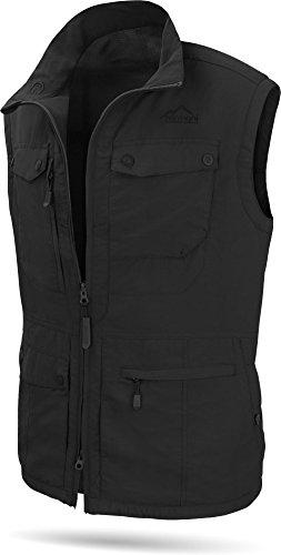 normani Herren Outdoor Weste mit atmungsaktivem Sonnenschutzmaterial 50+ [XS-5XL] Farbe Schwarz Größe 5XL