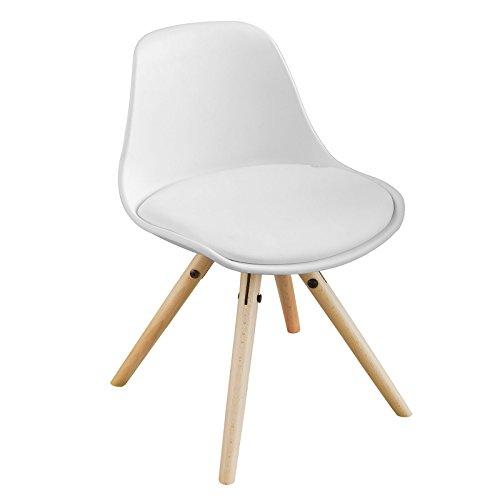 SoBuy Kinderstuhl, Stühlchen, Sitzhocker, Sitzhöhe 35cm, weiß, FST46-W