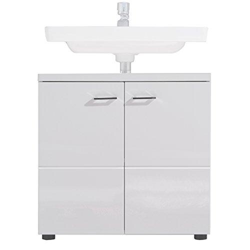 Trendteam Badezimmer Waschbecken Unterschrank, weiß, 65 x 63 x 35 cm