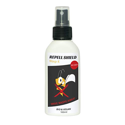 RepellShield Wespenspray REPELL Shield Wasp-X | Bio ohne DEET Wespenschutz mit Basilikumöl | Alternative zu Wespenfalle oder Wespengift| Effektive Wespenabwehr