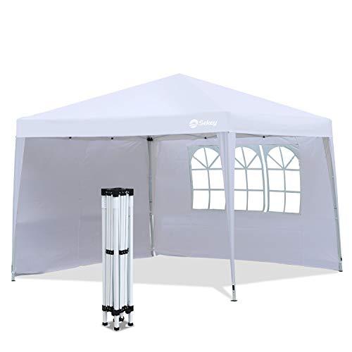 Sekey 3x3 m Pavillon / 3x6 m Faltpavillon (3 x 3 m, weiß)