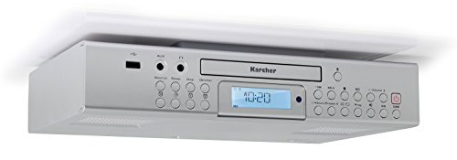 Karcher RA 2050 Unterbauradio (UKW-Radio, RDS, CD-Player, USB, USB-Charger, Countdown-Timer, Fernbedienung) silber