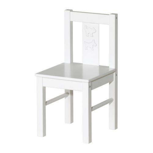 IKEA Kinderstuhl 'Kritter' Stuhl aus Massivholz - WEISS