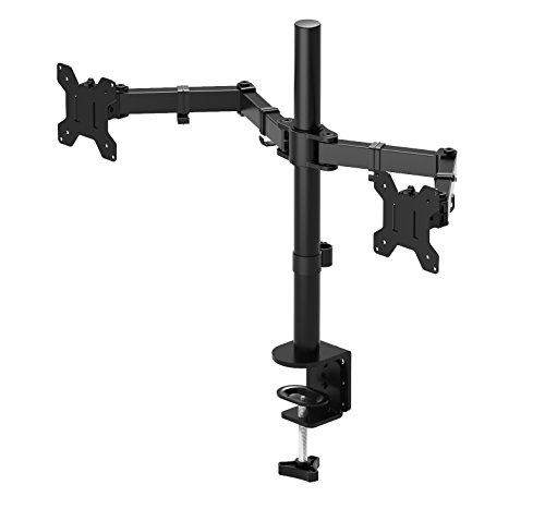 1home 13'-27' Monitor-Tischhalterung für LED und LCD Monitor Schreibtisch Monitorständer neigbar 180° schwenkbar 360° höhenverstellbar 10 kg (1 Monitor)