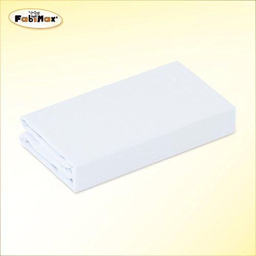 FabiMax 2697 Jersey Spannbettlaken für Laufgitter 75x100 cm, weiß