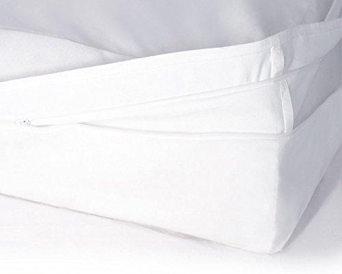Softsan Matratzenbezug milbendicht 140x200x25 cm, Höhe 25 cm, Encasing, Milbenschutz für Hausstauballergiker milbenkotdicht