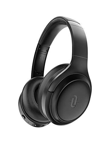 TaoTronics Active Noise Cancelling Bluetooth 5.0 Kopfhörer, Tiefer Bass mit CVC Geräuschunterdrückendes Mikrofon, 24 Std. Wiedergabedauer, Komfortable Ohrpolster für Reisen tragen [Schwarz 2.0]