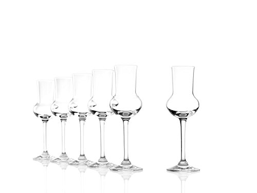 Stölzle Lausitz Grappaglas 6er Set, 87ml Gläser, wie mundgeblasen, spülmaschinenfest, hochwertige Qualität
