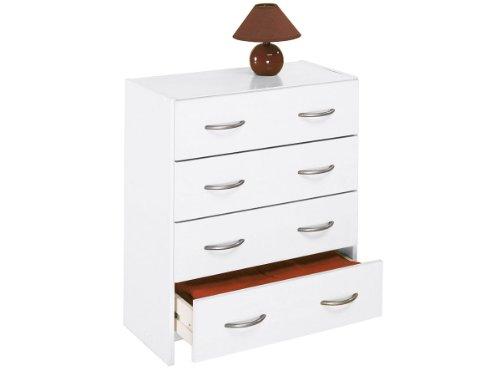 Kommode Schubladenkommode Schubladen Sideboard Anrichte Mehrzweckkommode 'Henry' (Weiß)