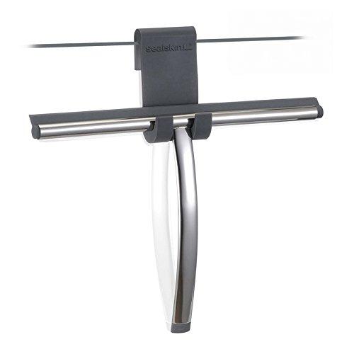 Sealskin Glaswischer Deluxe inklusive flexiblem Silikon-Halter, Edelstahl poliert
