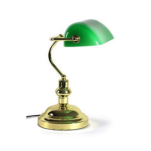 lux.pro] Bankerlampe Schreibtischlampe Bibliothekslampe Tischlampe Grün