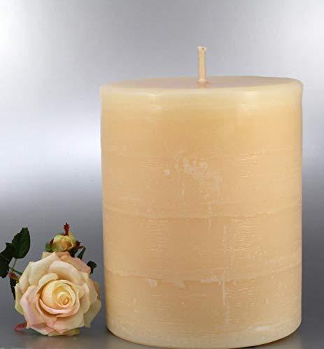 Rustic Kerzen Outdoor, Champagner, 20x17cm - 4013 - Landhauskerzen, Finca Kerze mit extra dickem Docht, für eine helle und große windfeste Flamme. Eine schöne Kerze für Ihr Zuhause.