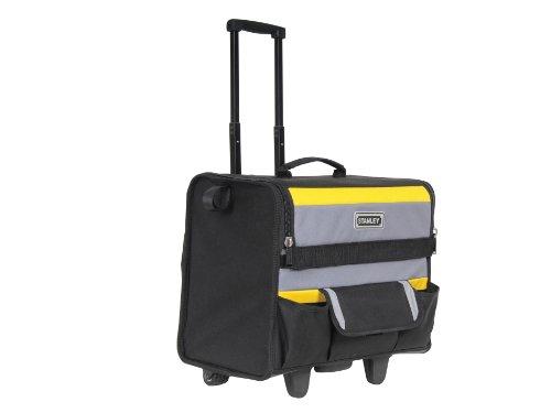 Stanley Werkzeugkoffer / Werkzeugtasche mit Rollen, (44.5x25.5x42cm, wasserfester Kunststoffboden, Trolley aus strapazierfähigem und robustem 600x600 Denier Nylon, viele Verstaumöglichkeiten) 1-97-515