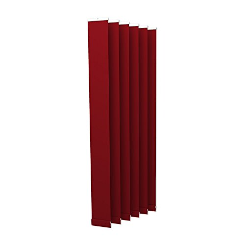 VICTORIA M Lamellenvorhang, Jalousie Isabella - I-Form, leicht lichtdurchlässig - 8,9 x 250cm, rot | 6er Pack