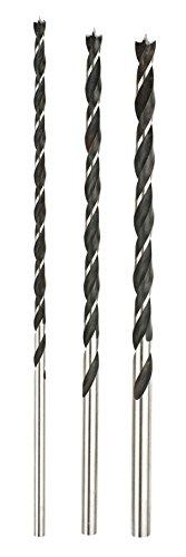 kwb Bohrersatz 3-tlg für Holz 511890 (3 x Balkenbohrer Ø 6, Ø 8, Ø 10, 4-seitig geschliffen, 2 Schulterschneiden)