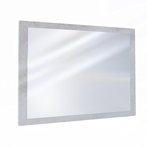 VICCO Badezimmerspiegel Badmöbel 45 x 60 cm - Spiegel Hängespiegel Badspiegel (Beton)