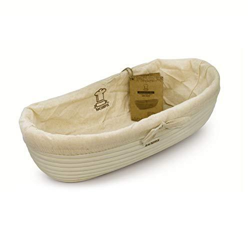 BackeFix großer Gärkorb ovales Gärkörbchen für Brot – ovales Gärkörbchen nachhaltig längliche Brotform 36cm