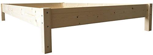 LIEGEWERK Futonbett Bett Holz massiv Holzbett Massivholzbett 90 100 120 140 160 180 200 x 200cm, hergestellt in BRD