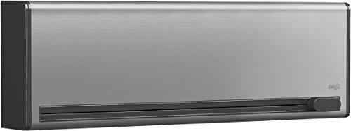 Emsa 515220 Folienschneider für 2 Folien, Wandmontage ohne Bohren, Edelstahl, Smart