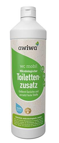 awiwa wc mobil Sanitärflüssigkeit für Campingtoilette und Chemie Wc I Bio Toilettenzusatz für Wohnmobil, Wohnwagen & Camping, 1 L Konzentrat Zusatz