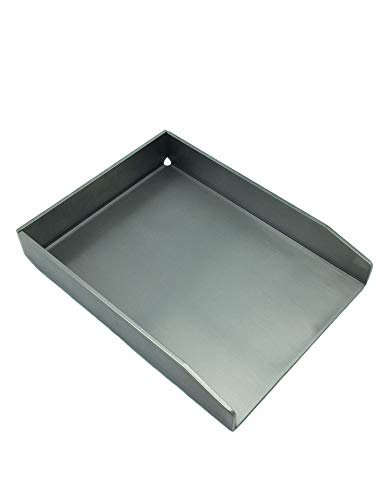 tradeNX Grillplatte aus Edelstahl - Massives Plancha & BBQ Zubehör zum Grillen von Fleisch, Fisch, Gemüse & Obst - 20 x 15 cm